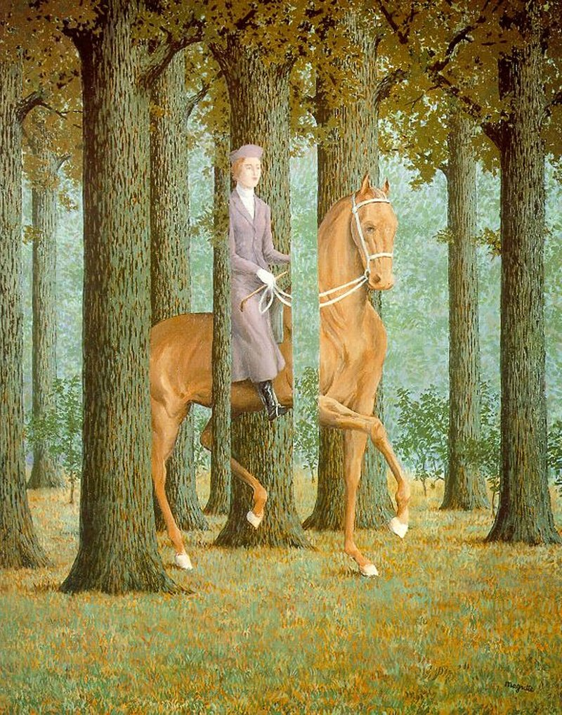 The Blank Signature Woman Horse